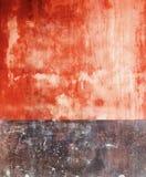Tijolo instável exterior vibrante de Colorfull e parede marrom do vintage da perspectiva da cor Fotos de Stock
