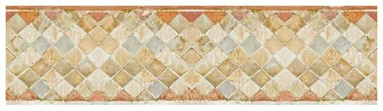Tijolo medieval italiano e parede de pedra - incertum- do opus com pedras e tijolos - no teste padrão sem emenda chamado latino fotos de stock royalty free
