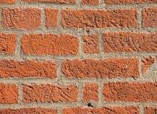 Tijolo na parede, parede de tijolo vermelho Fotos de Stock