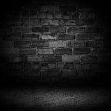 Tijolo preto luxuoso abstrato do cimento com os vagabundos da vinheta do preto da beira ilustração stock