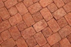 Tijolo queimado que pavimenta (diagonal) fotos de stock
