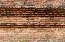 Tijolo velho da parede fotografia de stock