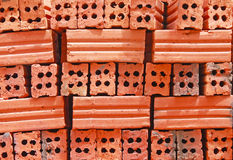 Tijolo vermelho Foto de Stock Royalty Free