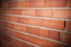 Tijolo vermelho de parede de tijolo Fotografia de Stock