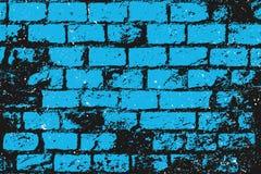 Tijolos azuis ilustração royalty free