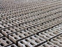 Tijolos concretos Foto de Stock