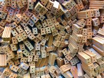 Tijolos contínuos da argila imagens de stock royalty free