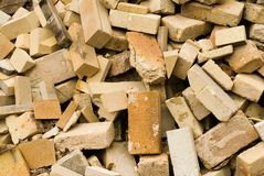 Tijolos de incêndio foto de stock