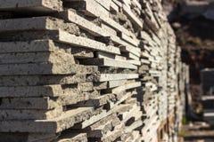 Tijolos de pedra vulcânicos Foto de Stock