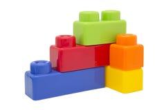 Tijolos do brinquedo do miúdo Fotografia de Stock