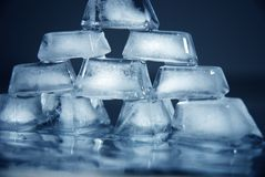 Tijolos do gelo Fotografia de Stock