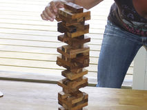 Tijolos do jogo de mesa Foto de Stock Royalty Free