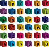 Tijolos - letras pretas na parte anterior Imagens de Stock Royalty Free