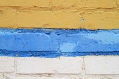 Tijolos pintados coloridos exteriores Foto de Stock Royalty Free