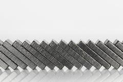 Tijolos pretos do dominó Foto de Stock