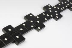 Tijolos pretos do dominó Fotografia de Stock Royalty Free