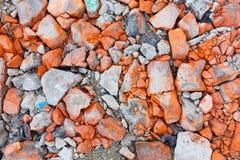 Tijolos quebrados Foto de Stock