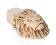 Tijolos sob a forma de um leão em um fundo branco Foto de Stock Royalty Free