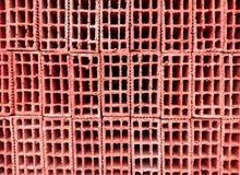 Tijolos vermelhos da construção para o revestimento fotografia de stock