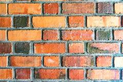 Tijolos vermelhos dos fundos da parede de tijolo imagens de stock