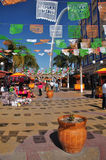 Tijuana, Mexico. Outdoor shopping area in downtown Tijuana, Mexico Royalty Free Stock Images