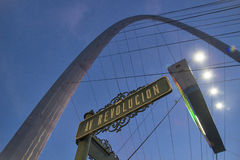 Mexico - Tijuana - The millennial arch at the entrance of avenida de revolucion welcomes tourists in Tijuana Stock Image