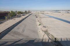 Tijuana River channel Stock Photo