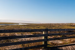Tijuana River National Estuarine Reserve di trascuratezza a San Diego Fotografia Stock