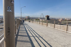 Tijuana River pedestrian bridge Stock Image