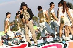 Tika Shiro megagwiazda w Tajlandia śpiewackiej rywalizaci Tajlandia uniwersyteta 40th grach Obraz Stock