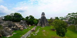 Tikal, столица цивилизации Майя майяской в Гватемале стоковое фото