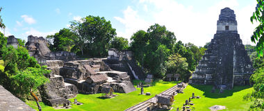 Tikal Ancient Maya Temples, Guatemala. Ancient Maya temples in Tikal, the  archaeological site and urban center of the pre-Columbian Maya civilization, Guatemala Royalty Free Stock Photography