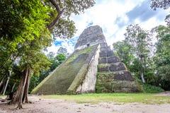 Tikal. Famous 2000 years old Maya Ruins of Guatemala. UNESCO World Heritage site Stock Image