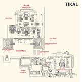 Tikal map, guatemala Royalty Free Stock Photography