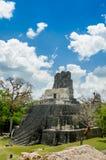 Tikal mayan ruins in guatemala Royalty Free Stock Photo