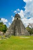 Tikal mayan ruins in guatemala Stock Image