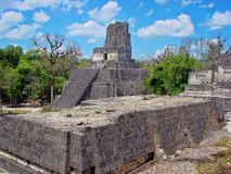 Tikal Pyramids, Guatemala stock photo