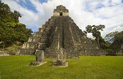 Tikal tempel I Stock Afbeelding