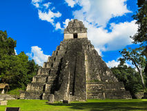 Tikal-Tempel I in Guatemala lizenzfreie stockfotos