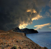 Tikhaya-Bucht, Krim, nahe Feodosiya Lizenzfreies Stockfoto