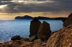 Tikhaya Cove of the Bay of Koktebel, Crimea Stock Photos
