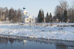 Tikhvin, Ρωσία Μητέρα Tikhvin του ορθόδοξου monast Dormition Θεών Στοκ Φωτογραφίες