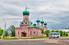 Tikhvin 俄国 1824年被创办的大教堂工厂意味nevyansk责任人pyatiprestolny石变貌yakovlev 图库摄影