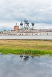 Tikhvin-Annahme-Kloster Stockfoto