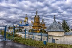 Tikhvin Bogorodichny Uspensky Monastery is an Orthodox women's m Royalty Free Stock Photos