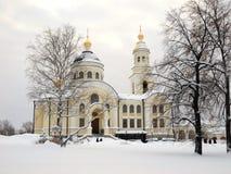 tikhvin för kvinnligklosternovo Royaltyfria Foton