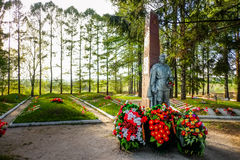 Tikhvin fraternal cemetery of soviet soldiers Royalty Free Stock Photo