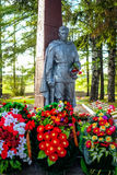 Tikhvin fraternal cemetery of soviet soldiers. Of great Patriotic war stock images