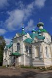 The Tikhvin monastery Stock Photos