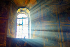Tikhvin monastery cathedral of the assumption interior Royalty Free Stock Images